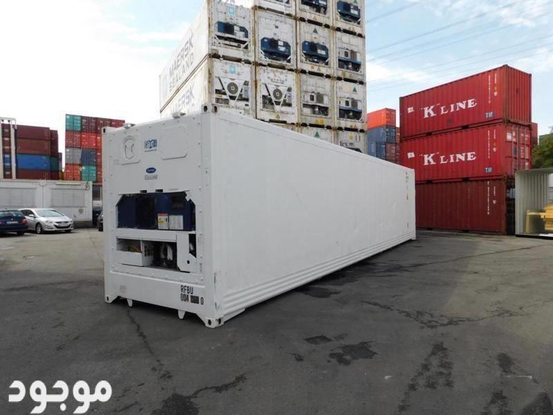 حاويات براده 40 قدم  مع مبرد كارير للبيع